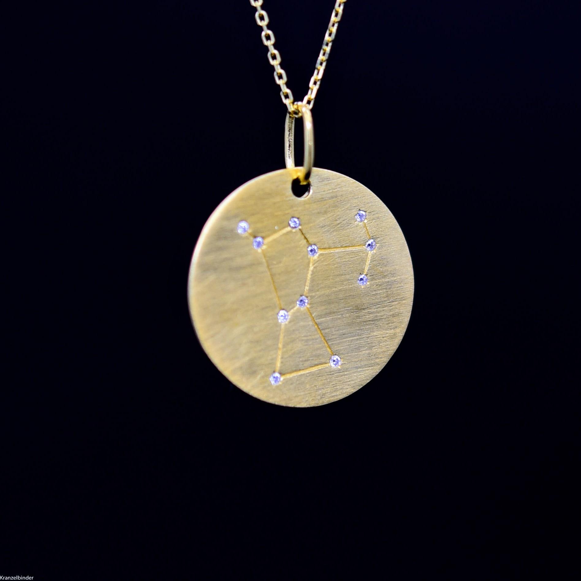 Silberanhänger Sternbild Orion Zirkon