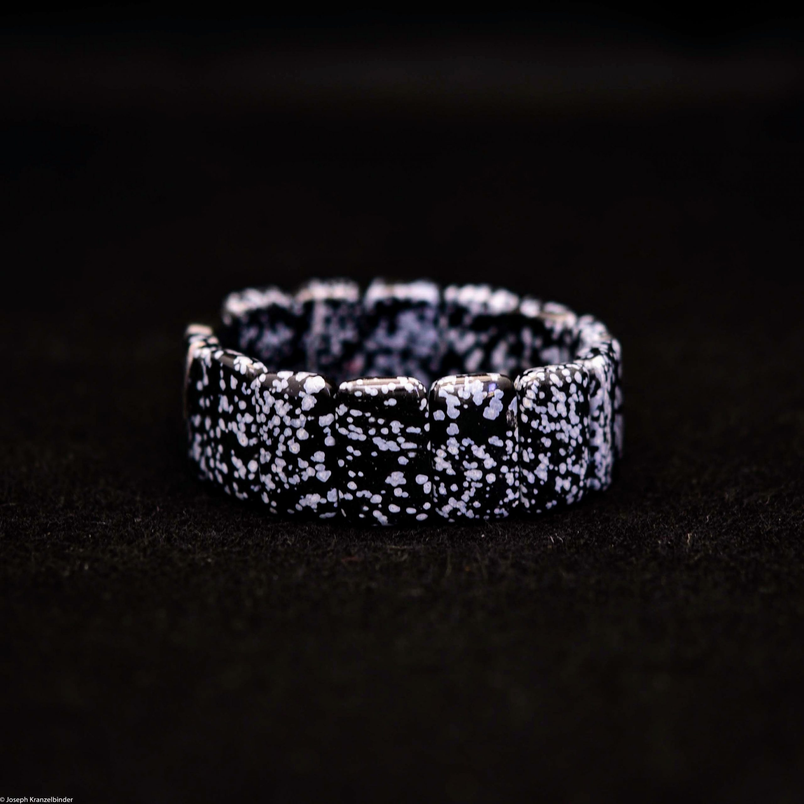 Schneeflocken-Obsidian-Armband