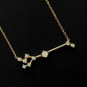 Rosenquarz Silberanhänger Stier vergoldet